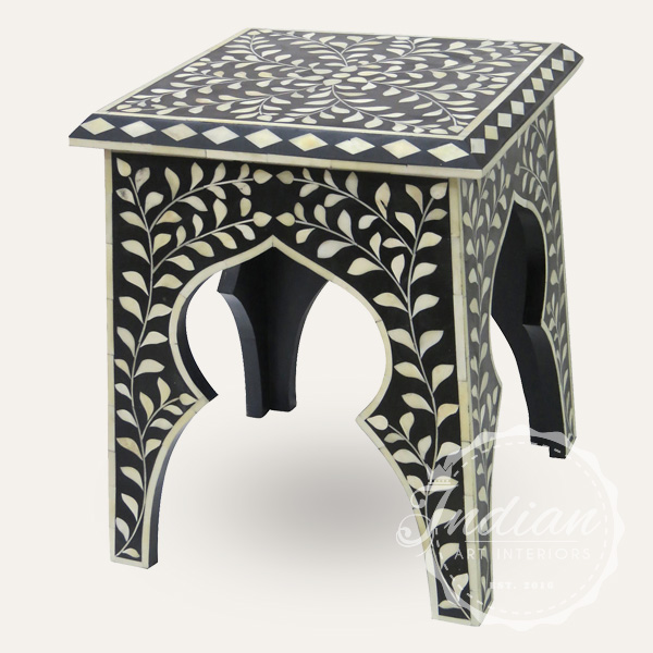 black bone inlay stool