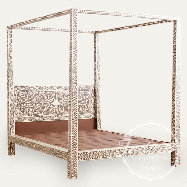 bone inlay poster bed