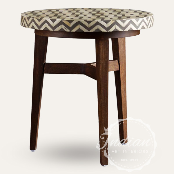 bone inlay handmade stool