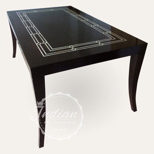bone wooden inlay dining table