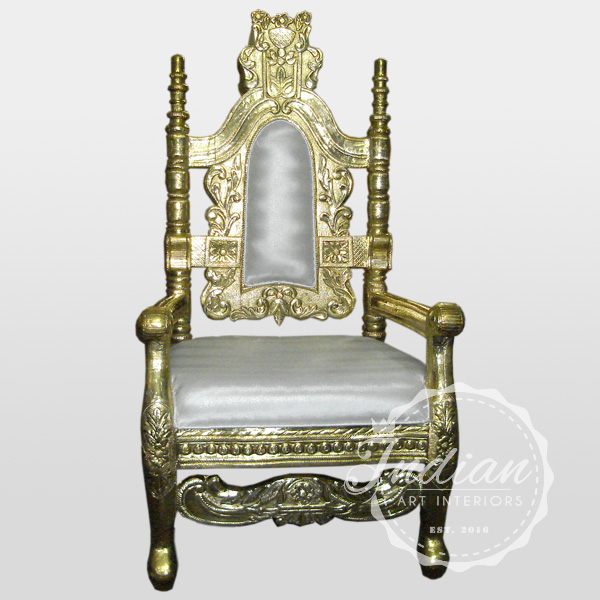 brass handicraft throne