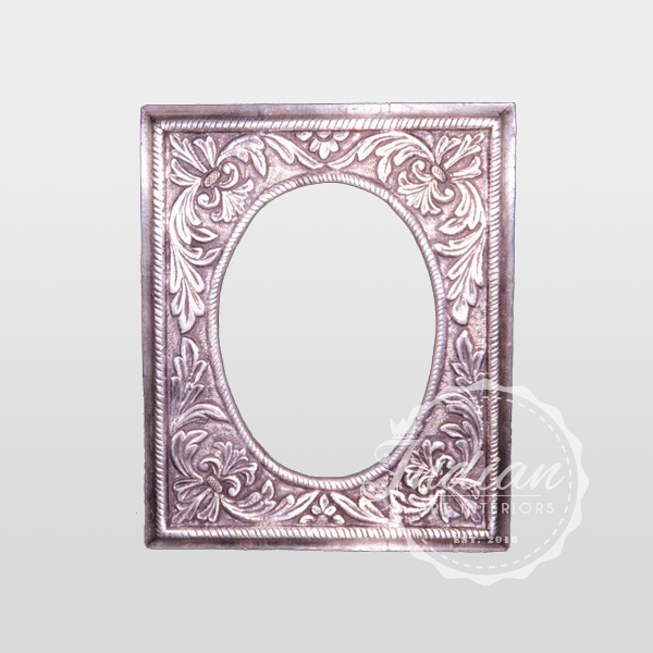 carved silver antique photo frame