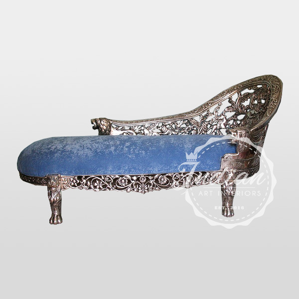 carved silver daybed