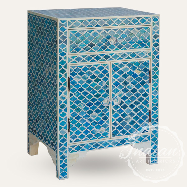 dyed marrakech inlay bedside