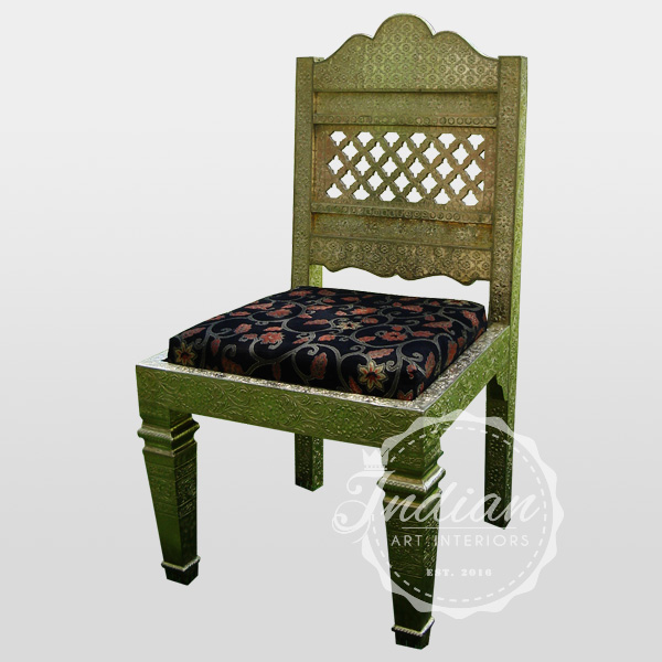 embossed brass dining chair
