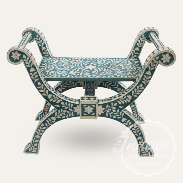 indian handmade inlay stool