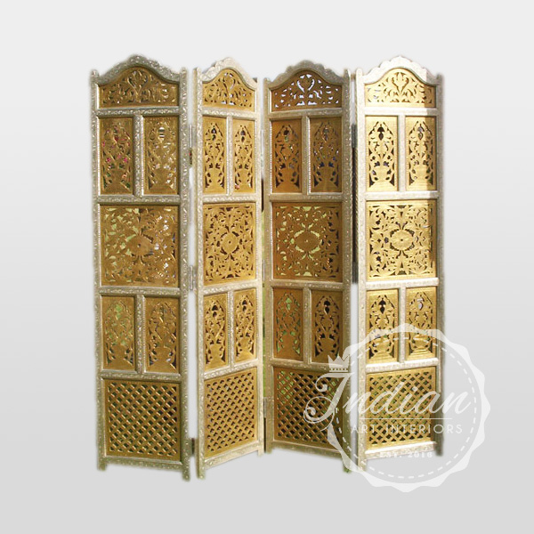 metal brass hand crafted partition screen