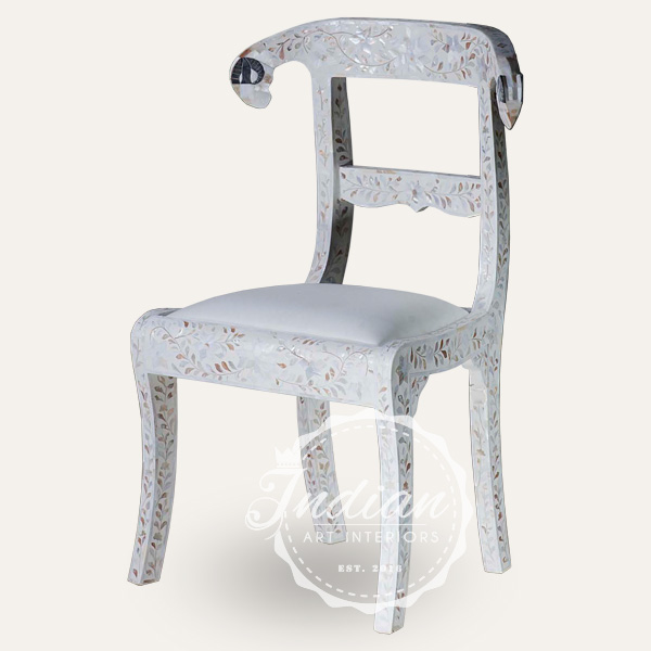 mop inlay floral chair