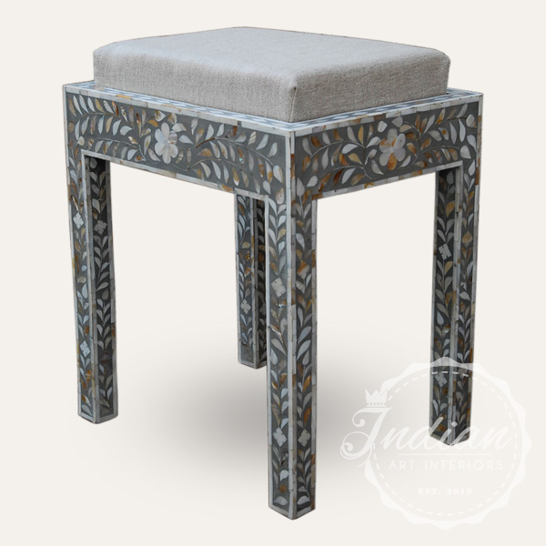mop inlay seating stool