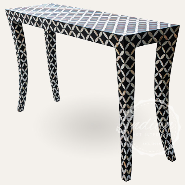 mother of pearl inlay black console