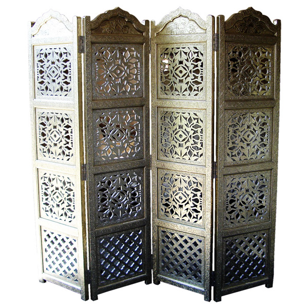 silver partition screen