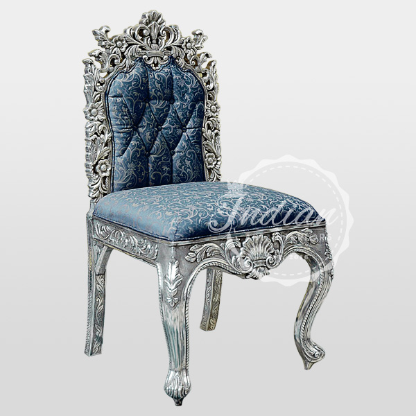 silver carved restaurant chair