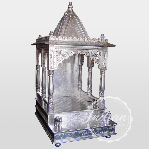 silver carved handicraft temple