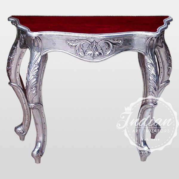 indian silver console table