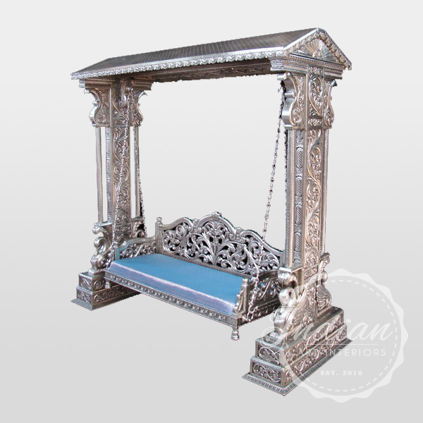 silver carved swing
