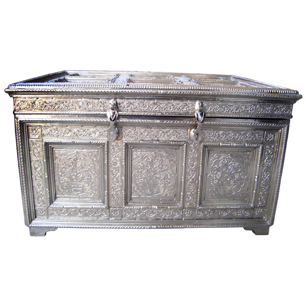 white metal trunk box
