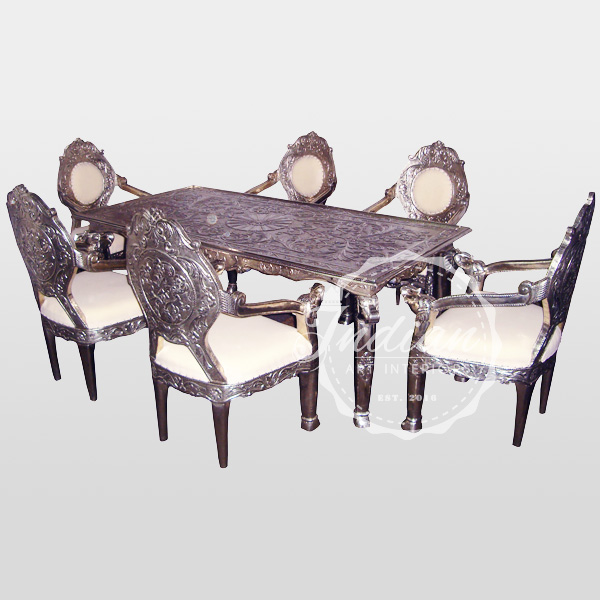carved handicraft dining table