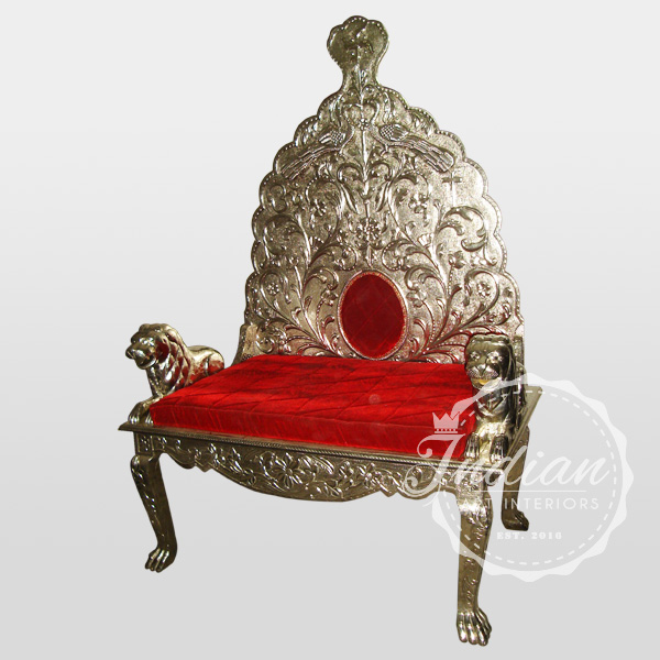 indian white metal throne