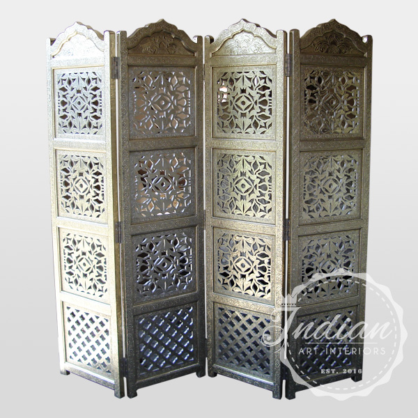 white metal embossed partition screen