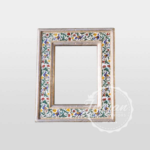white metal handicraft traditional photo frame