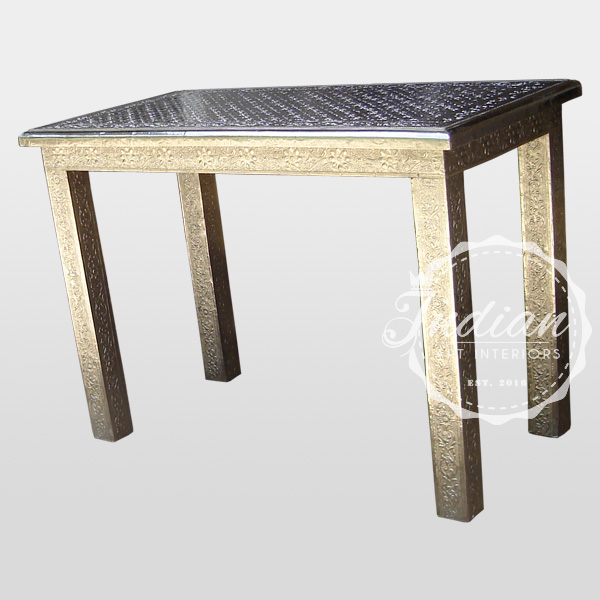 silver restaurant dining table