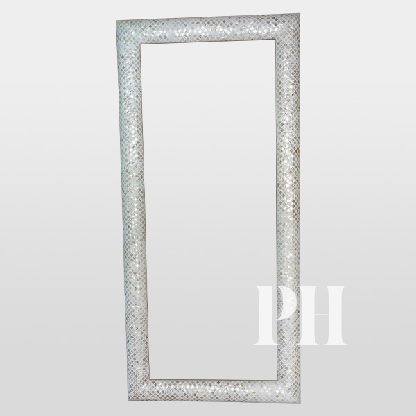 mop inlay curved mirror frame